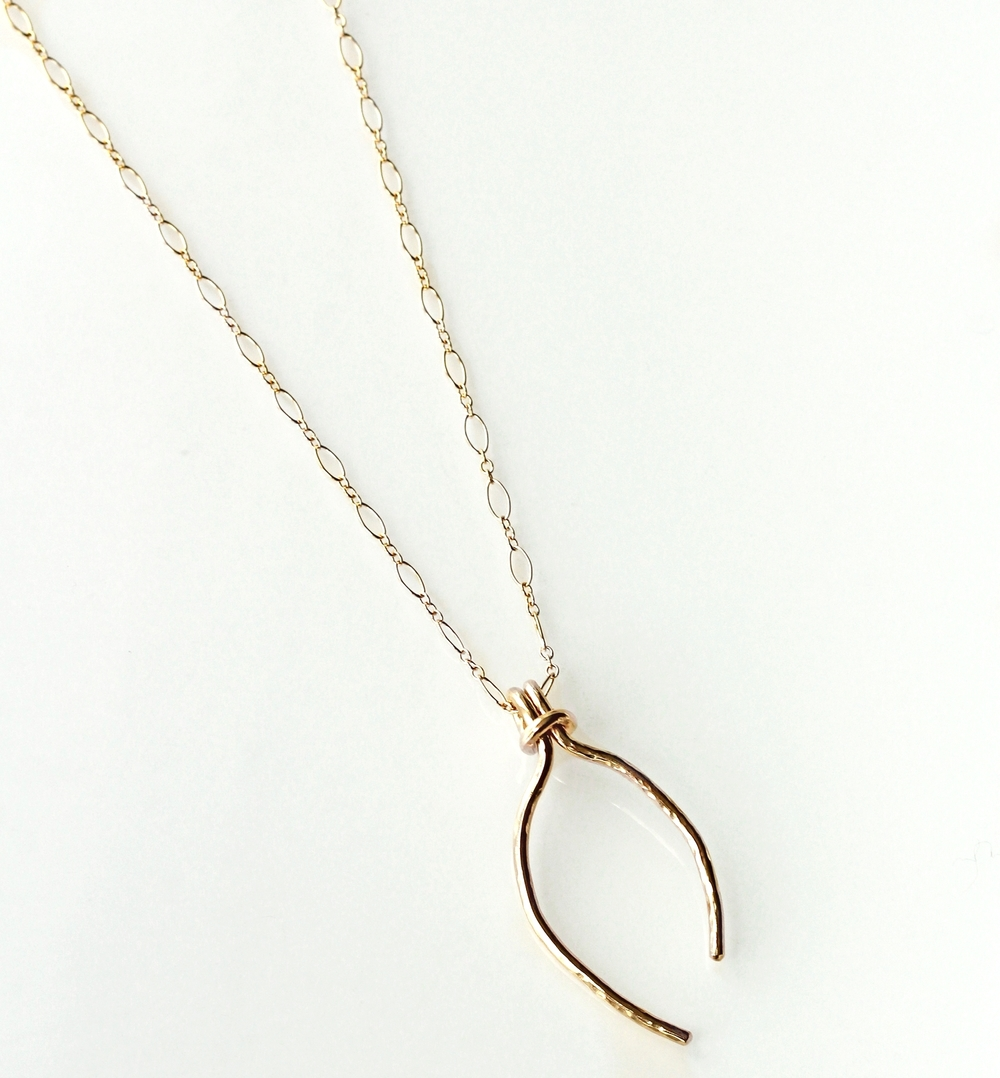 Large+Gold+wishbone+necklace Katye Landry Designs