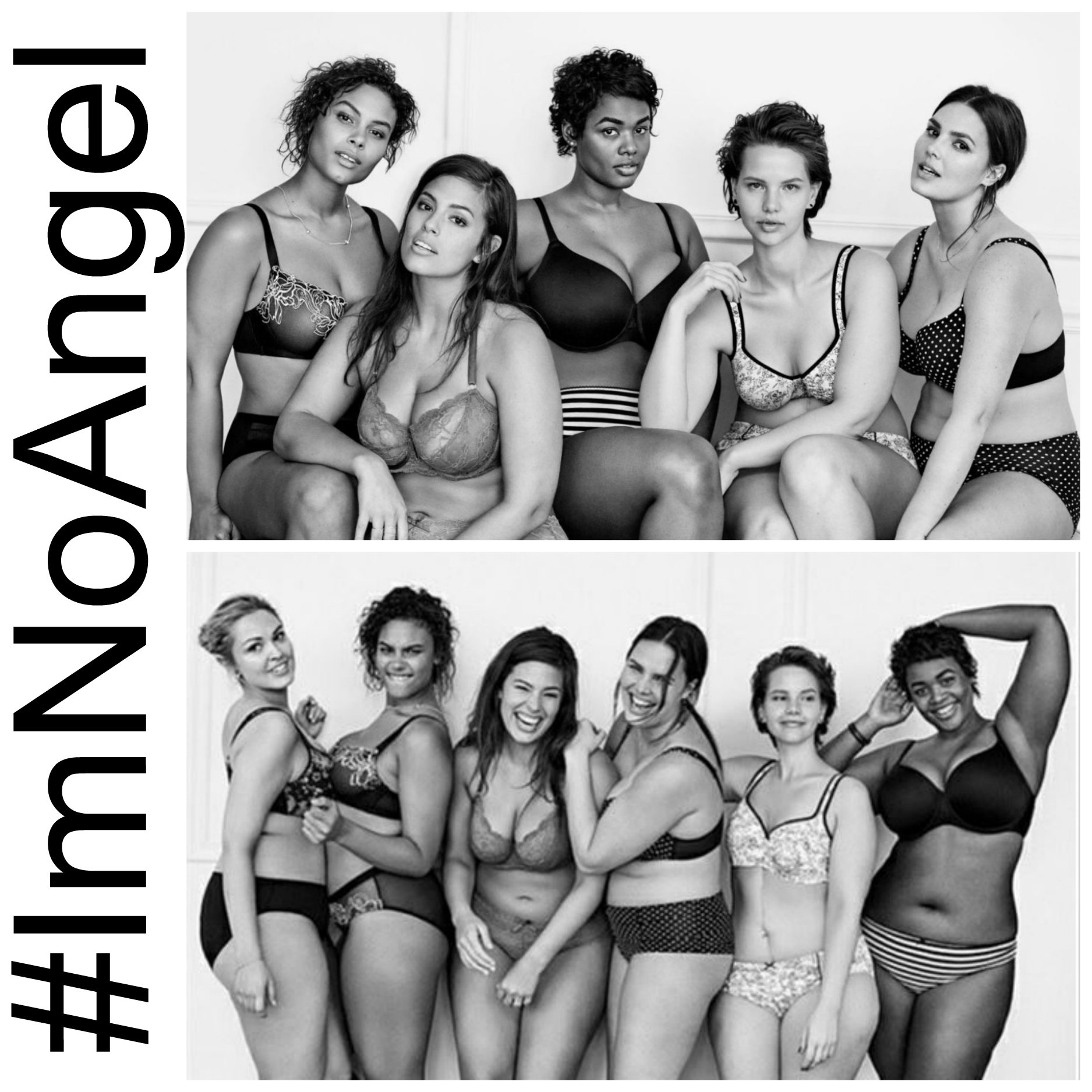 #ImNoAngel Campaign PLus Size Models Fashion Blog