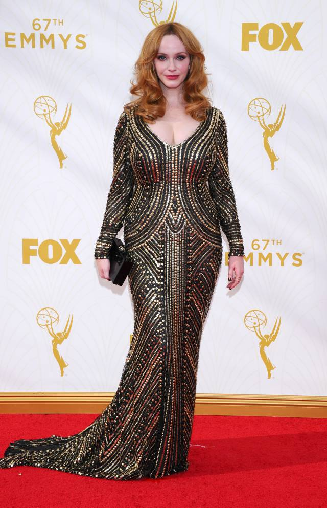 Mode XLusive Canadian Fashion Blog Curvy Christina Hendricks Emmys 2015 red carpet dresses