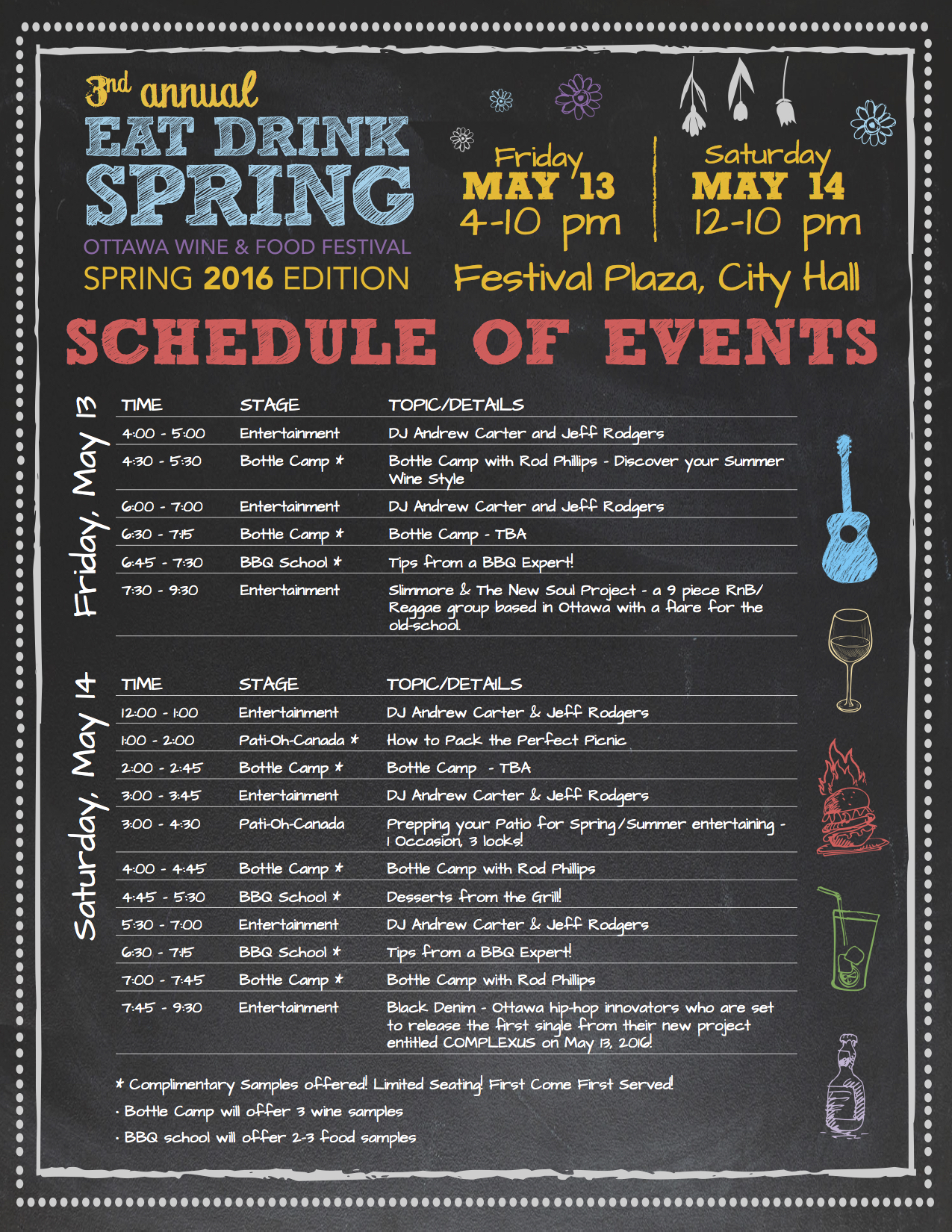 Eat Drink Spring Ottawa 2016 Schedule