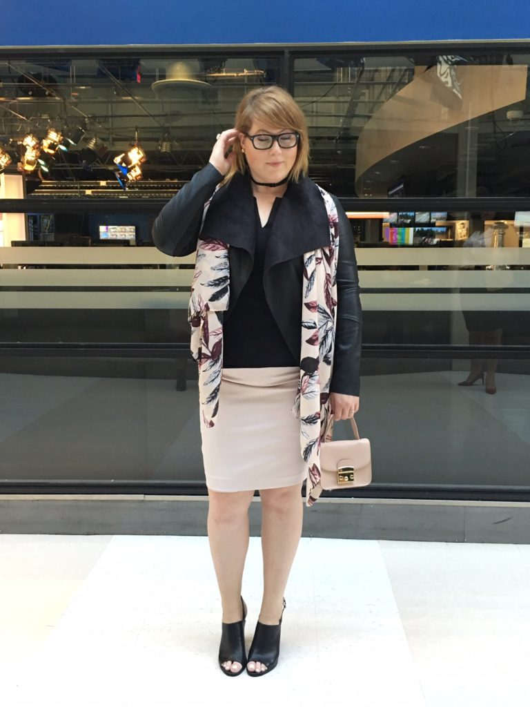 Ottawa Fashion Blog Le Chateau plus size shopping pantone blush