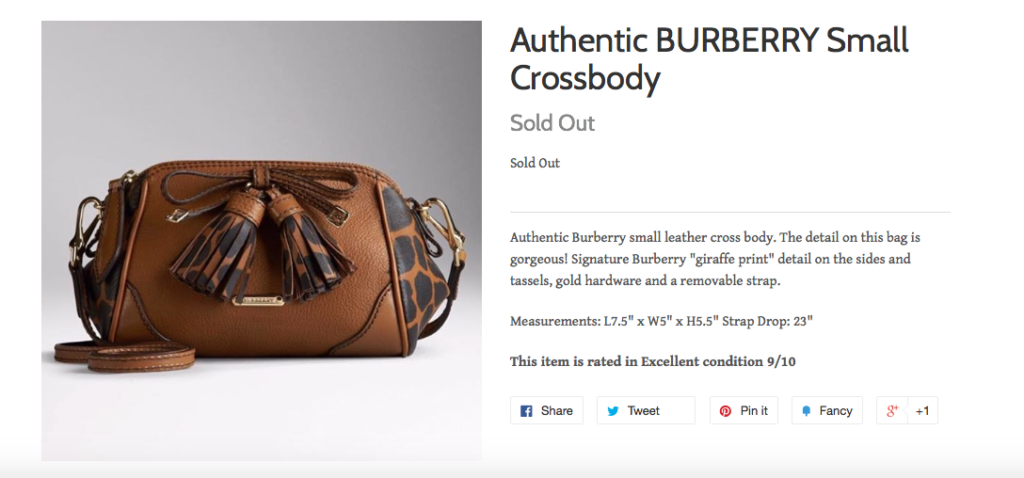Burberry purse Valamode